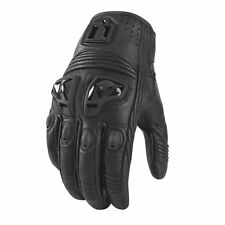 Icon Justice Leather Womens Street Gloves Black