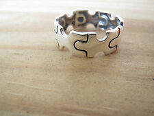 Sterling Silver Autism Awareness Puzzle Ring