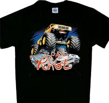 Road Rage 4 wheeler Monster Truck  Tee Shirt Black