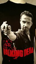 AUTHENTIC THE WALKING DEAD RICK AND PISTOL GUN AMC TV SHOW T TEE SHIRT S-3XL