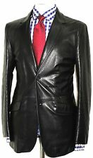Men Leather Blazer New Black soft lambskin Slim fit Coat Designer Blazer- MB14