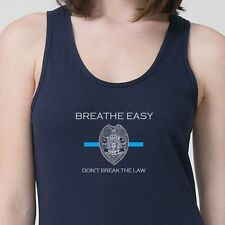 Breathe Easy Don't Break The Law T-shirt Cop NYPD Rally Protest Adult Tank Top