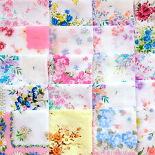 Hot Vintage Women Child Cotton Flower Ladies Lot Handkerchiefs Quadrate Hankies