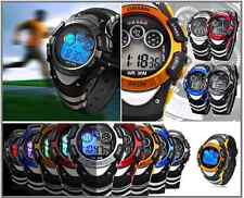 New Ohsen Sports Day Date Chronograph 7 Luminescence Quartz Digital Watch 3ATM
