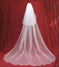 veil 2t White or Ivory Wedding dress Bridal Veil Cathedral With Comb