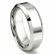 316L Stainless Steel Mens Beveled Comfort Fit 6mm Wedding Band Ring 8 9 10 11 12