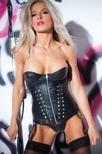 Jennifer Faux Leather Studded Corset Allure Lingerie 11-1402 Free Shipping
