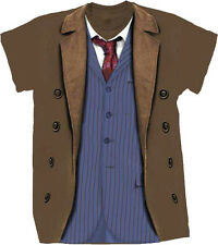 *NEW* Dr Doctor Who - 10th Doctor Costume Male Style Tee T-Shirt Tshirt