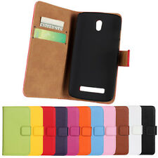 Wallet Leather Mobile Phone Card Pocket Kickstand Case Cover For HTC
