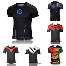 Men Marvel Costume Comics Superhero Avenger T-Shirt Jersey Rider Casual Tee Tops