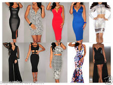 Hot Women Clubwear Sexy Clothes Cocktail Party Ladies Bodycon Midi Summer Dress
