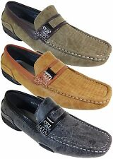 Men Brixton New Leather Driving Casual Shoes Moccasins Slip On Loafers Nile 10