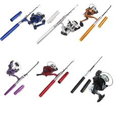 Mini Portable Pocket Travel Pen Shape Aluminum alloy Fishing Rod Pole Reel 5.1:1