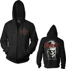 SLIPKNOT SKULL BACK HEAVY METAL BAND ROCK HOODIE ZIP UP SWEAT SHIRT S-2XL