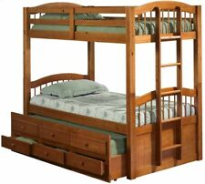 Triplet Bunk Bed with Trundle and Storage