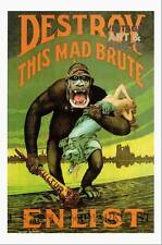 large22x16 small 18x13 ww1 poster Destroy this Mad Brute