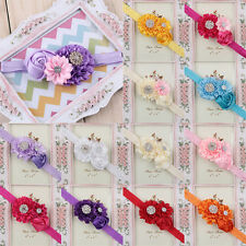 Baby Girl Clip Rhinestone Headband Ribbon Hair Band Head Flower Hair Accessories