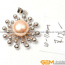 10-11mm Natural Freshwater Pearl White Gold Plated Pendant Star Shape Jewelry