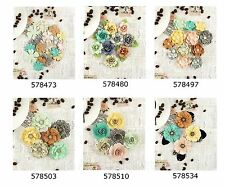 Prima * COFFEE BREAK * MULBERRY PAPER FLOWERS * Scrapbooking Handmade Cards