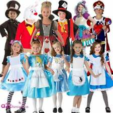 KIDS BOYS GIRLS ALICE MAD HATTER HEARTS BOOK DAY WONDERLAND FANCY DRESS COSTUME