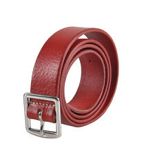 Dsquared2 Men's Red Leather Belt Size S M L XL