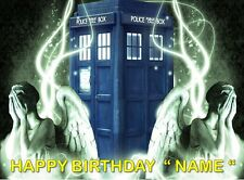 DR WHO !!  Party Edible Cake Topper Image Frosting Sheet - quarter and half size
