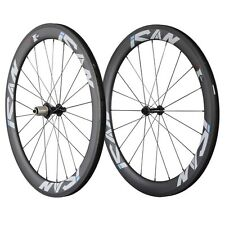 ICAN 56mm Superlight Carbon Wheels Clincher With Sapim CX-Ray Spokes 20/24H