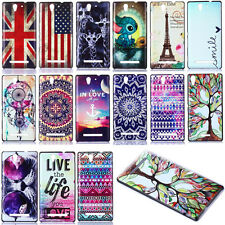 Fashion Painted Hybrid Hard Cover Case For Sony Xperia C3 D2533 Dual D2502