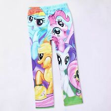 Cartoon My Little Pony Clothes 5-10Y Baby Kids Girls Leggings Pants Costume UK