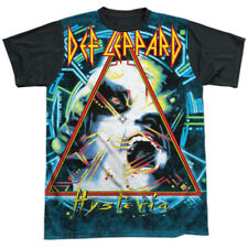 Def Leppard Hysteria Licensed Sublimation Black Back Adult Shirt S-3XL