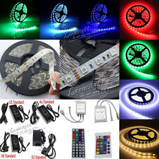 RGB 5050 SMD Waterproof 300 LED Light Strip Flexible Light+ IR Remote + 5A Power