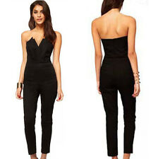 Strapless Woman V-Neck Jumpsuit Jumper Cocktail Party Clubwear Rompe