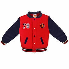 Manchester United FC Official Football Gift Baby Boys Baseball Varsity Jacket