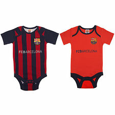 FC Barcelona Official Gift 2 Pack Home & Away Kit Baby Bodysuits (RRP £14.99)