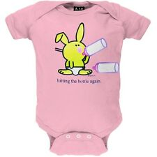 Happy Bunny - Hitting The Bottle Newborn Infant One Piece