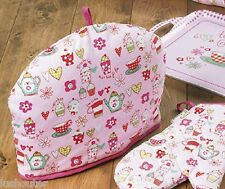 OVEN MITT-APRON-TEACOSY-CUPCAKE PRINT -COTTON -CO-ORDINATING-KITCHEN CATERING