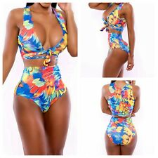 Women's Sexy Vintage Push Up Bikini Sets Bandage Swimwear Swimsuits High Waist