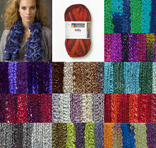 Schachenmayr SMC Ruffle Ribbon Frilly Wool / sparkle Knitting Scarf Yarn