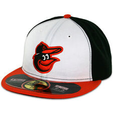 Baltimore ORIOLES HOME Game New Era 59FIFTY Fitted Caps MLB On Field Hats