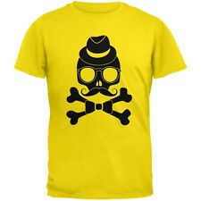 Hipster Skull And Crossbones Yellow Youth T-Shirt