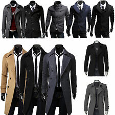 Men's Trench Warmer Coat Winter Long Jacket Double Breasted Overcoat 10 Styles