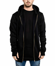 Phoenix Basic Oversize Zip Hoodie Fashion West Longshirt Kayne Blvck Black Side