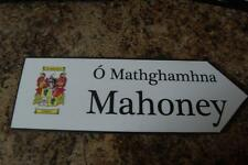 Mansell to Mathew - Your Coat of Arms on Wooden Sign