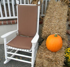 IN / OUTDOOR JUMBO ROCKER ROCKING CHAIR 2 PC CUSHION PAD-CHOOSE SOLIDS & STRIPES