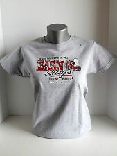 Case IH Farmall Women's Small T-Shirt-What Happens In The Barn Stays In The Barn