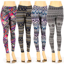 Plus Size Print Leggings Soft Colorful Stretch Pants Fashion Tribal 1X 2X 3X 4X