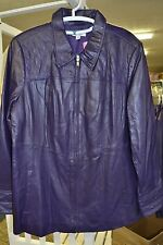 Denim & Co. Zip Front Leather Jacket with Quilted Details & Seams A227141