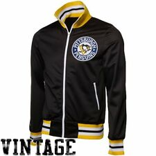 new mens mitchell & ness pittsburgh penguins nhl warm up/track jacket $135