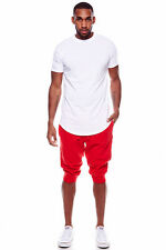 Mens Hot Amazing Crazy Casual Beach Muscle Slim Fit Fashion Zipper Long Tee Tops