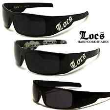 LOCS Wrap Around Sunglasses - Men's Black / Skull Print - Excellent Quality